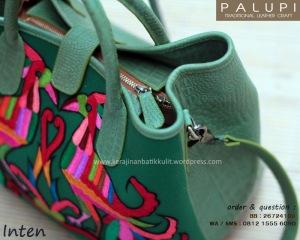 tas batik kulit, tas tenun kulit, tas sulam tumpar, tas batik kombinasi kulit